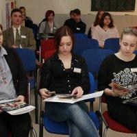 pedagógiai munkatárs szakos tanulók egy rendezvényen