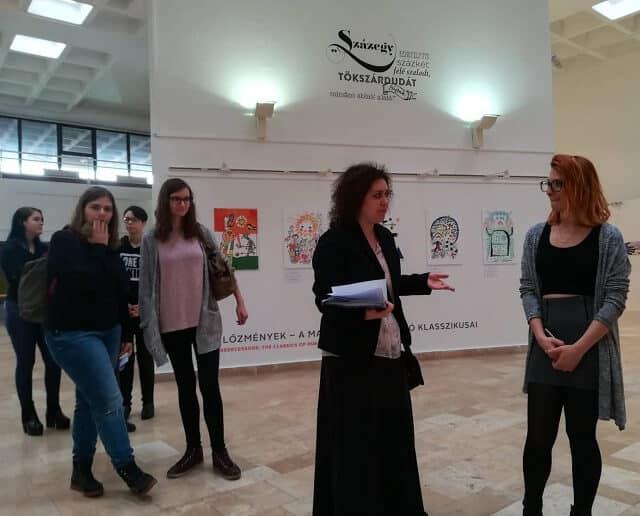 Művészettörténet óra a Balassi Intézetben