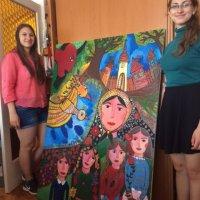 pedagógiai szakos tanulóink festménnyel