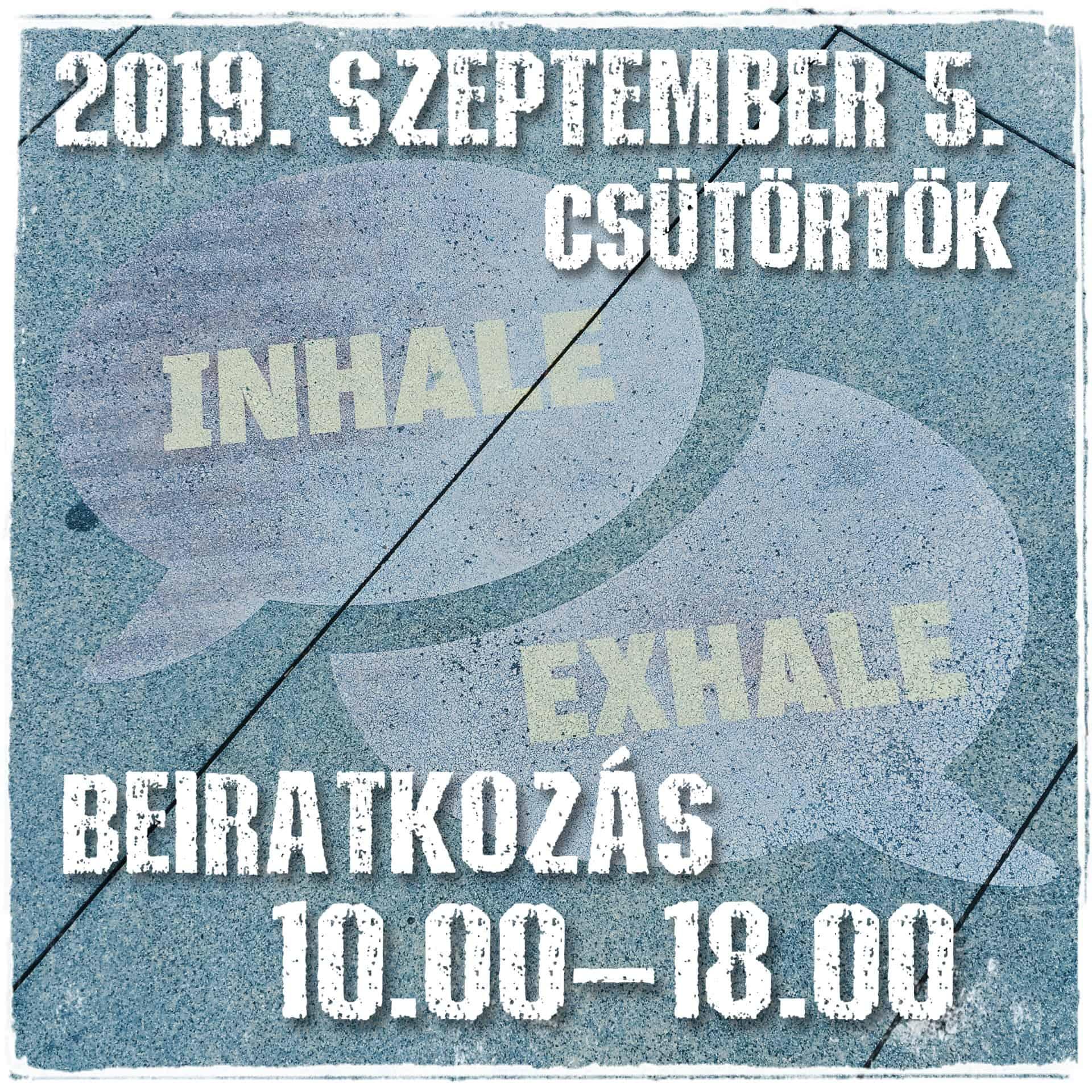 Beiratkozás 2019. szeptember 5. csütörtök