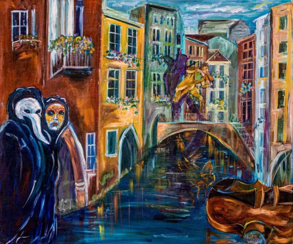 velencei városkép festmény