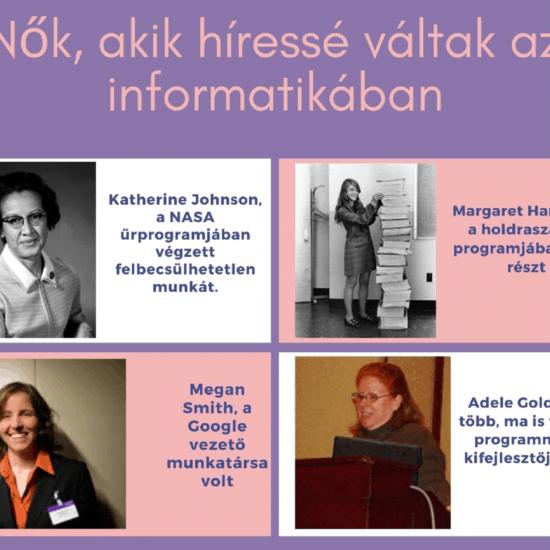 nők akik híressé váltak az informatikában