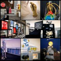 végzős dekoratőr tanulók installációiból készült montázs