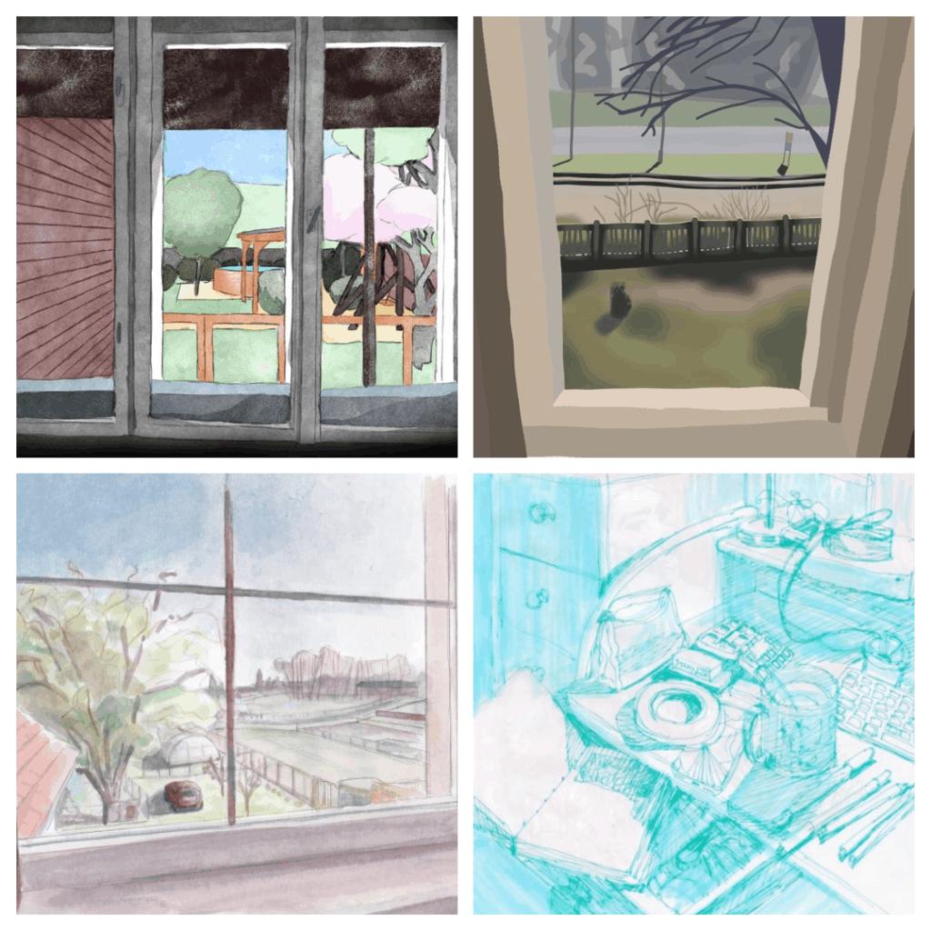 variációk kilátásra az ablakból montázs