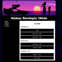 szoftverfejlesztő tanuló portfólió oldala
